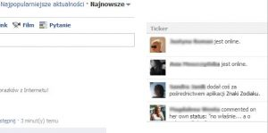 facebook ticker