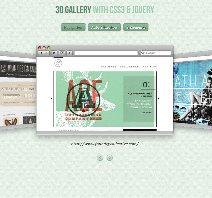 Skrypt galerii w 3D za pomocą CSS3
