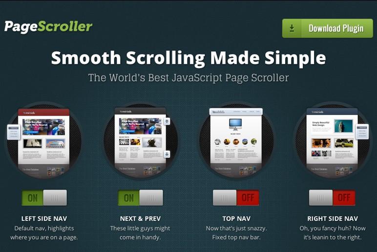Płynne przewijanie strony z Page Scroller