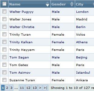 jTable - plugin jQuery do sortowania twoich tabel z danymi