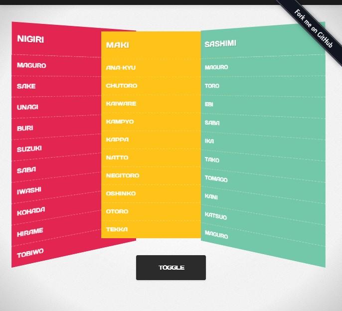 Makisu – skrypt prezentujący alternatywne podejście do rozwijanego menu
