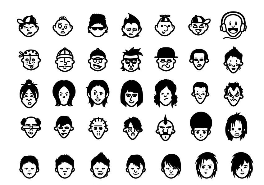 Wyjątkowy zestaw ikon/avatarów, który sam możesz wygodnie edytować