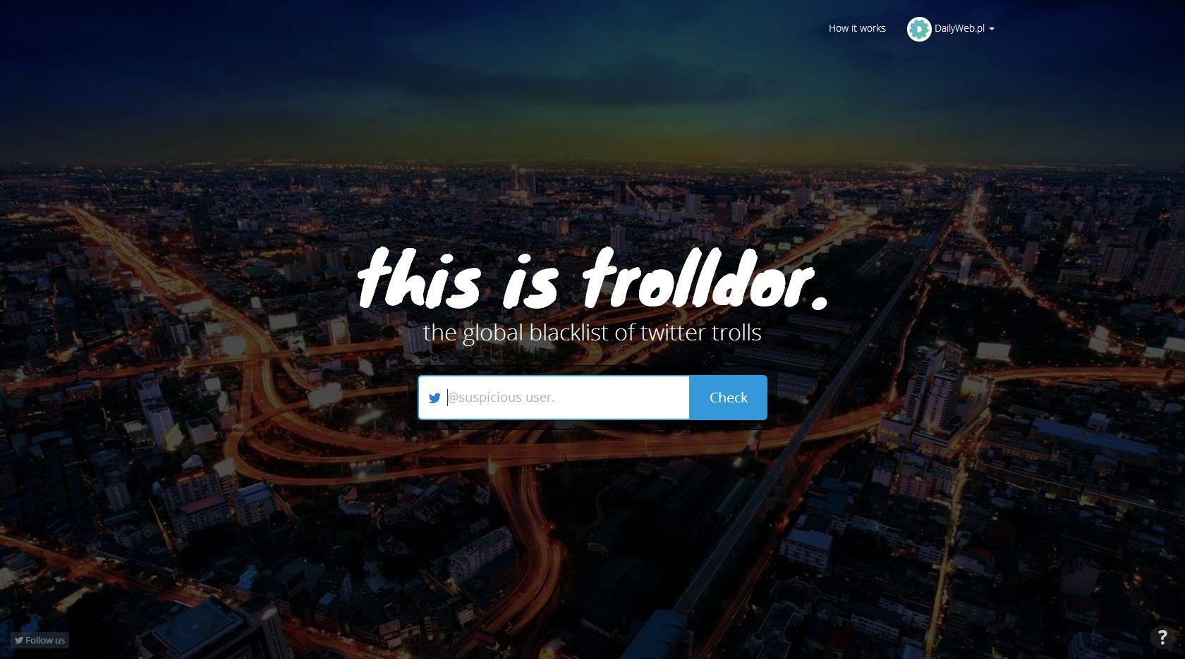 Z narzędziem Trolldor sprawdzisz trolla na Twitterze oraz czy sam nim nie jesteś