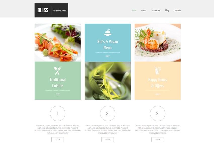 Bliss - kompletny, darmowy szablon w HTML5 dla restauracji