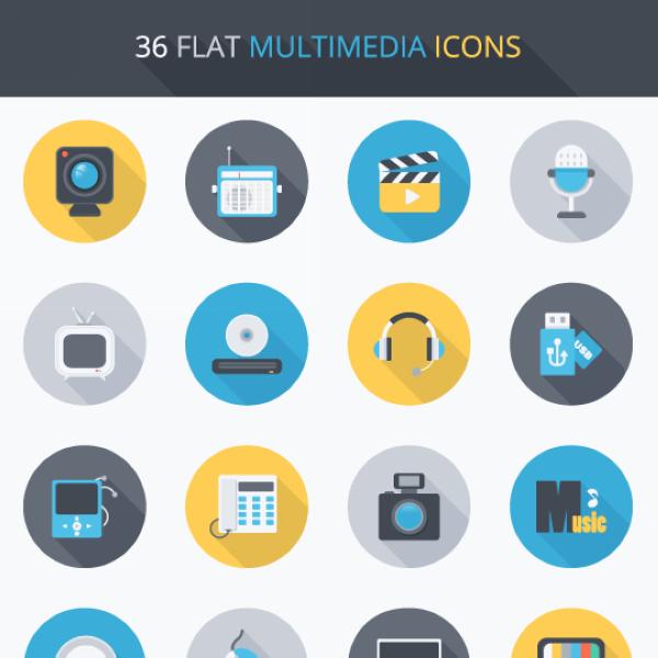 Exclusive tylko dla Czytelników DailyWeb: Zestaw 36 ikon Flat Design