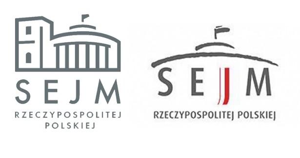 Po lewej stare, po prawej nowe logo.