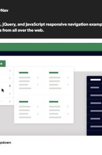 90 skryptów responsywnych menu w jednym miejscu