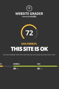 Website Grader - sprawdź najważniejsze aspekty swojej strony WWW