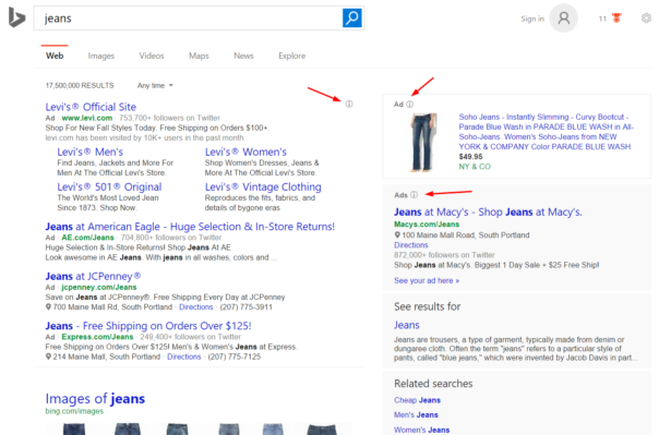 Bing-jeans-desktop-SERP