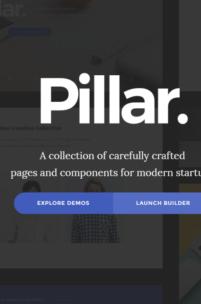 Pillar - znakomity i tani szablon HTML do wszelkich zastosowań
