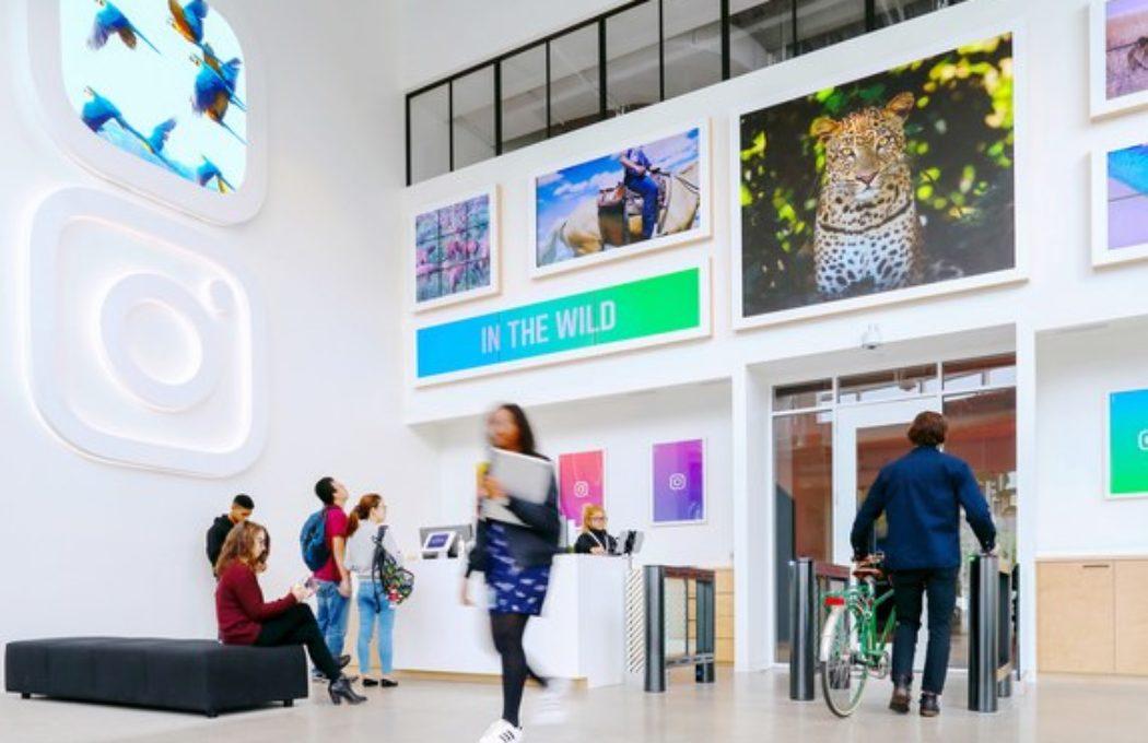 Lobby z cyfrową galerią