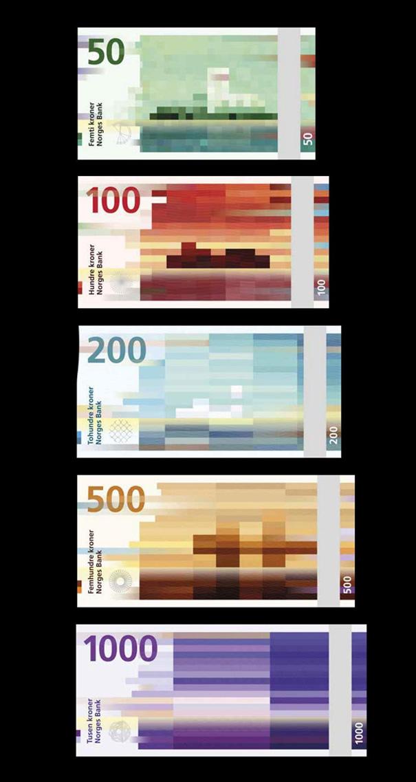 new norwegian banknotes pixel bills 1