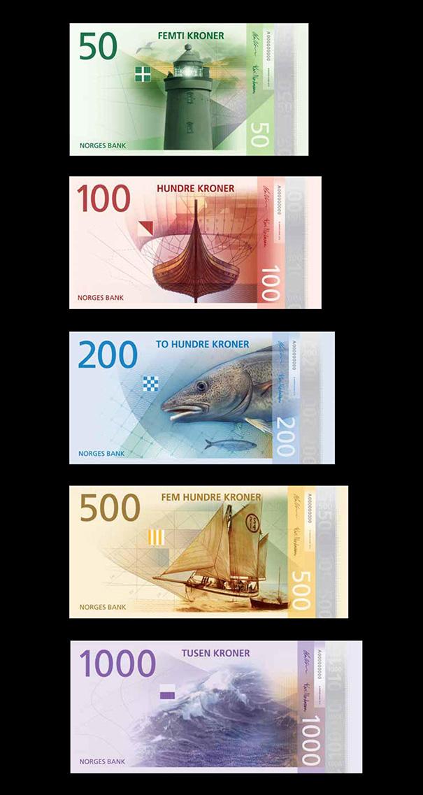 new norwegian banknotes pixel bills 2