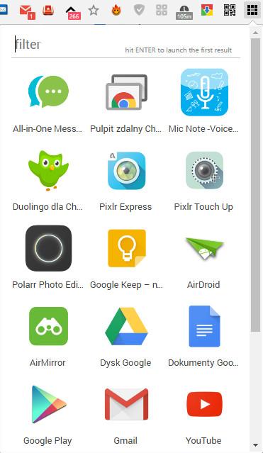 gdzie są aplikacje wgoogle chrome
