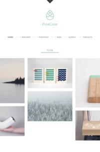 PineCone - piękny i darmowy motyw dla Twojego portfolio