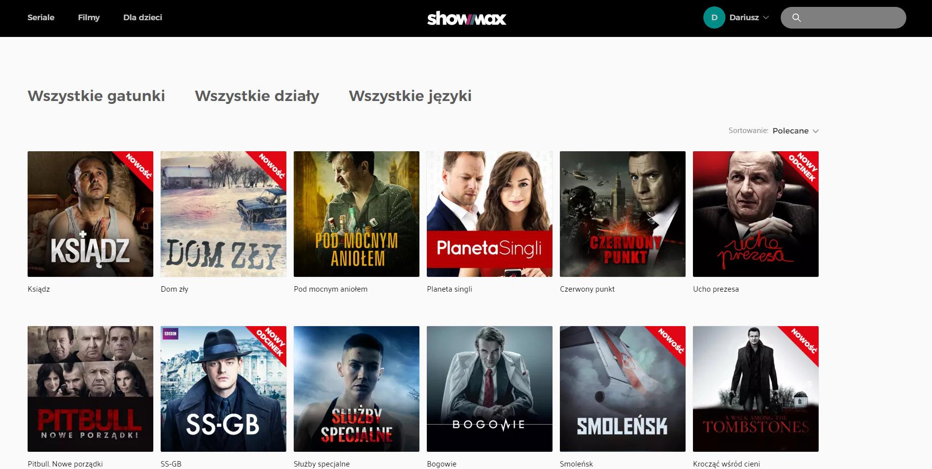 showmax.pl oferta filmów iseriali online okres testowy zadarmo free