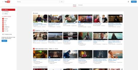 Stary Youtube - strona główna