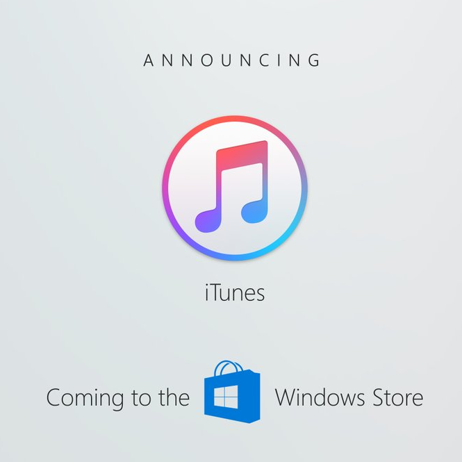 iTunes w Windows Store