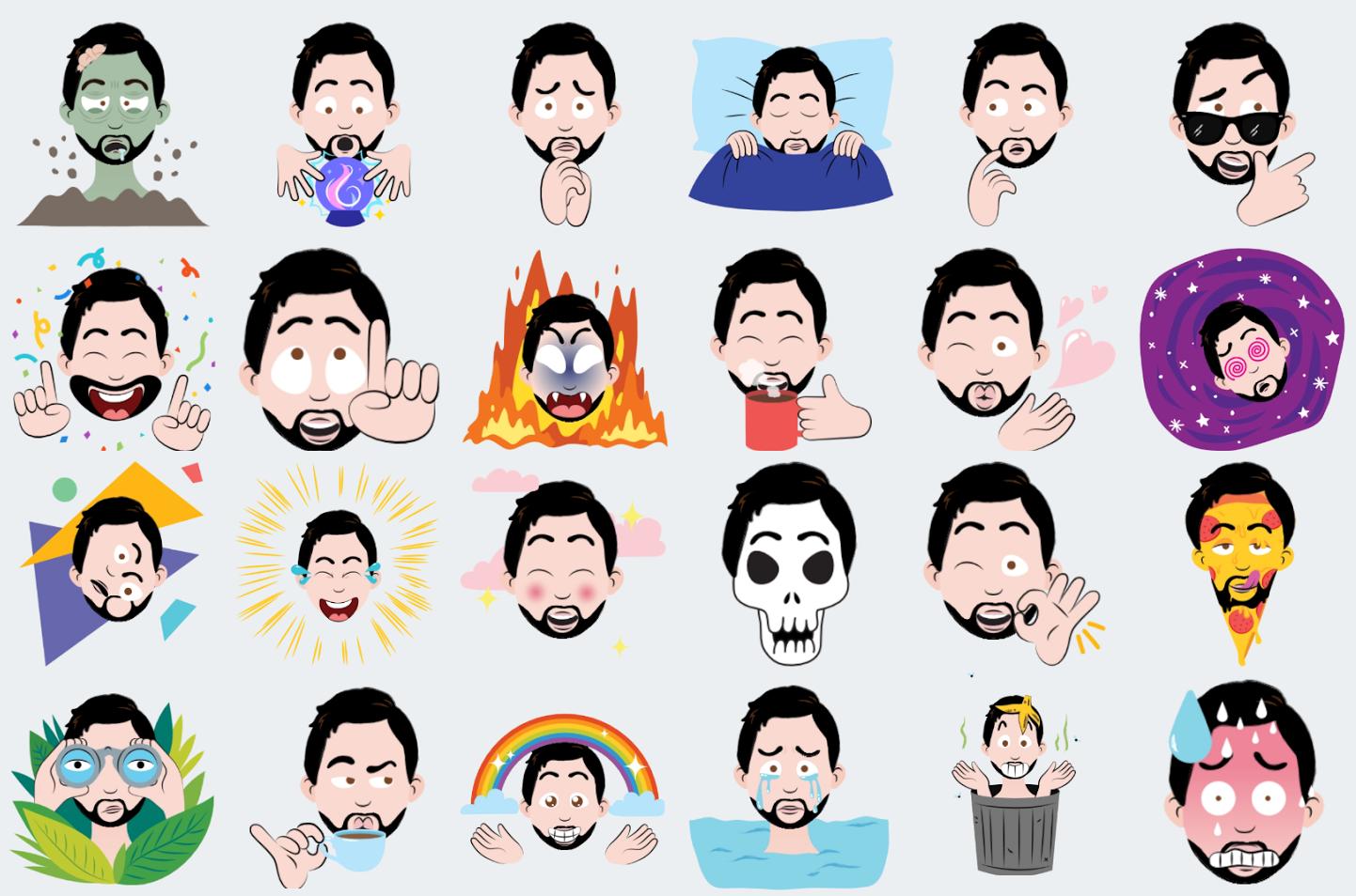 Google Allo selfie stickers