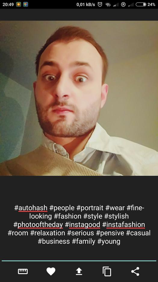 AutoHash - Automatyczne dodawanei hashtagów do zdjeć