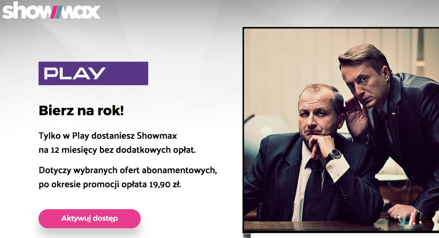 Showmax za darmo w sieci Play