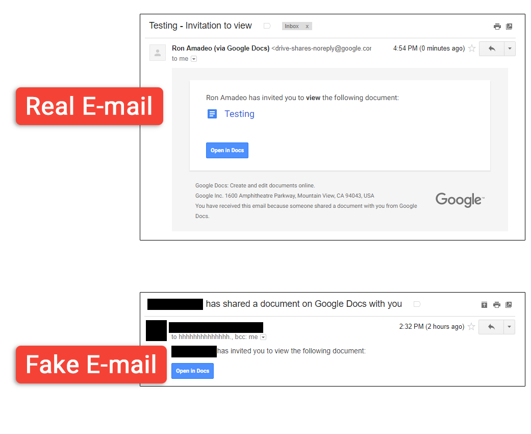 Atak naDokumenty Google