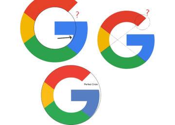Wyjaśnienie problemu matematycznej poprawności logo Google