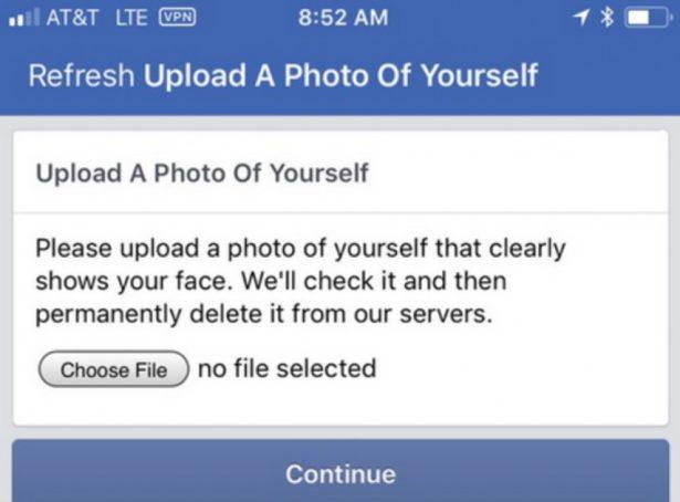 Powiadomienie Facebook oweryfikacji