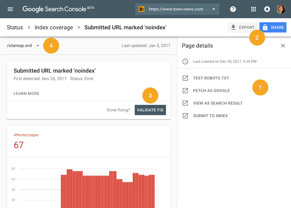 Google udost pnia nowe search console nareszcie for Search console