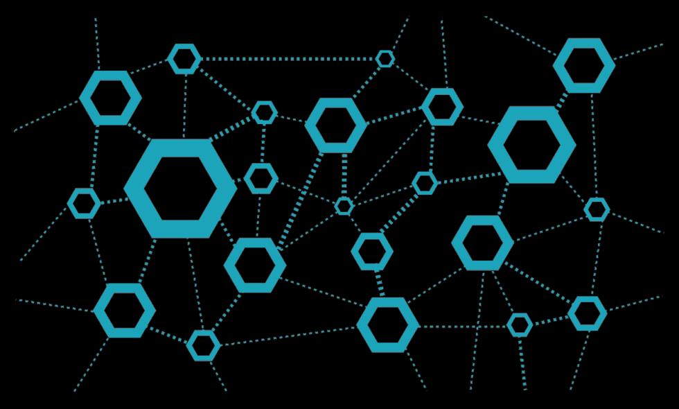 sieć zdecentralizowana - diagram