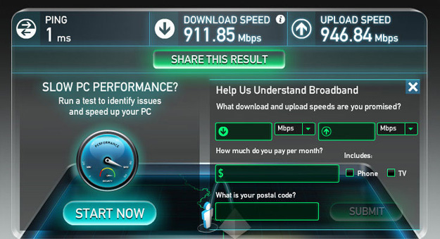 Speedtest google fiber