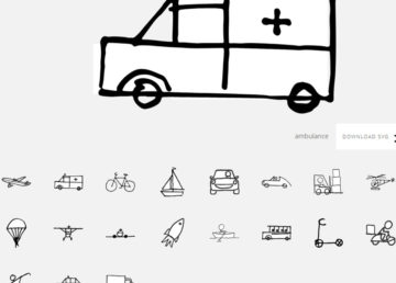 The doodle library - darmowa biblioteka rysunków w SVG