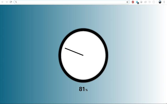 Chrome Analog Percent Clock