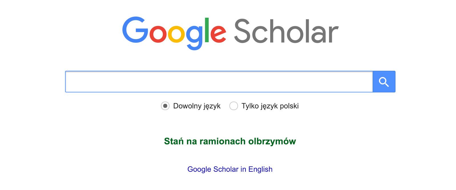 porady seo 2019 Google Scholar