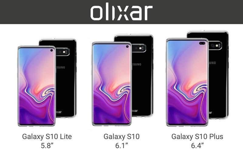 Samsung Galaxy S10 - rozmiary ekranów