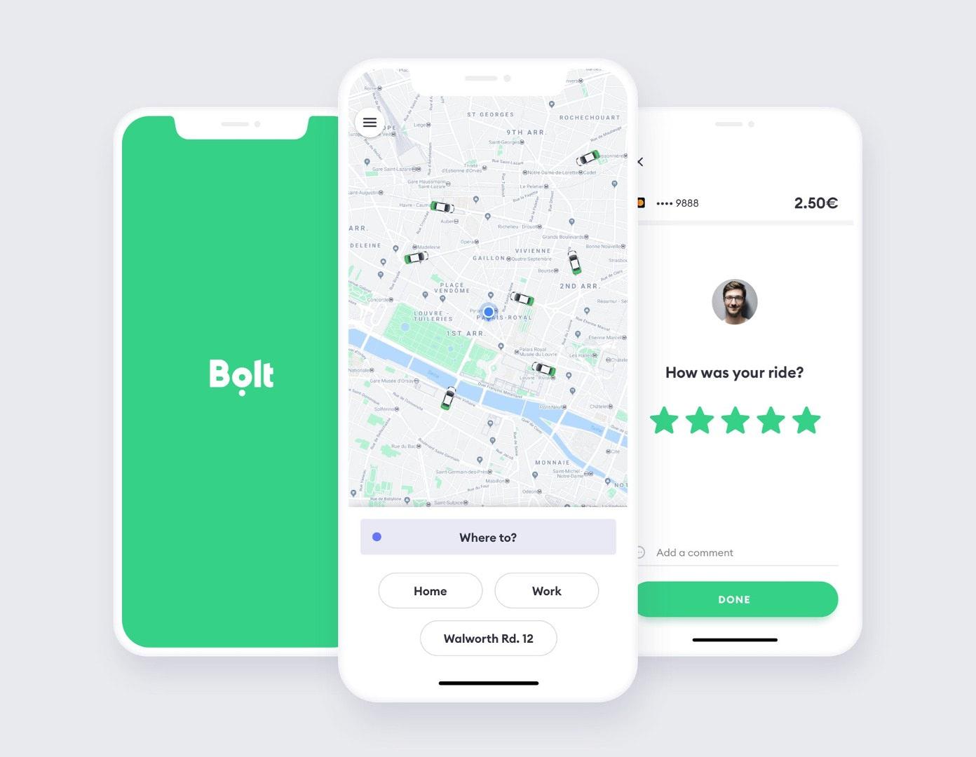 Nowy wygląd aplikacji Bolt
