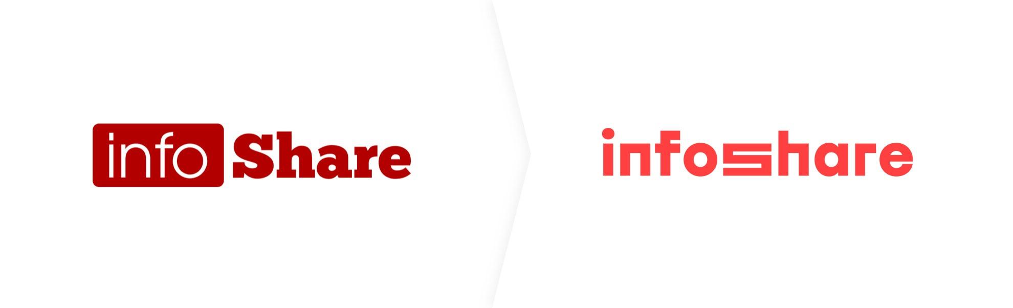 Stare i nowe logo InfoShare
