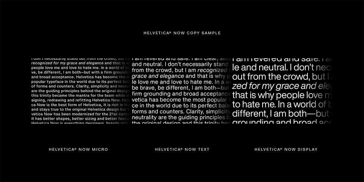 Helvetica now 3 wersje