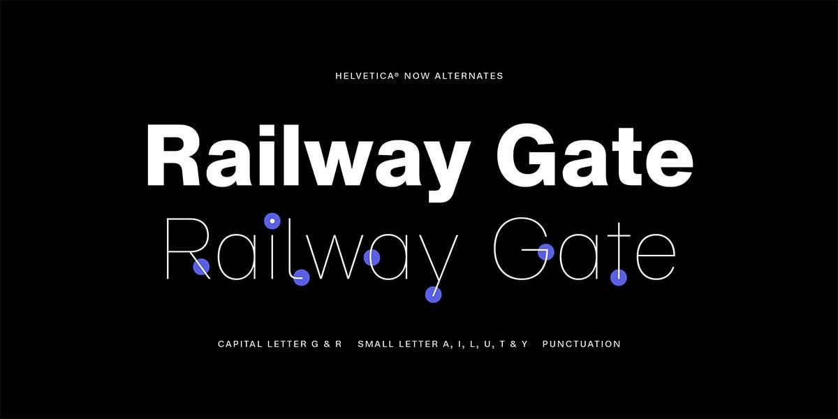 Helvetica now alternatywne znaki