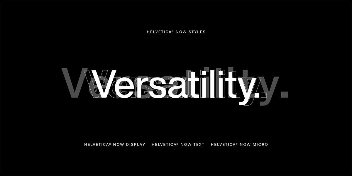Helvetica now posiada trzy różne style
