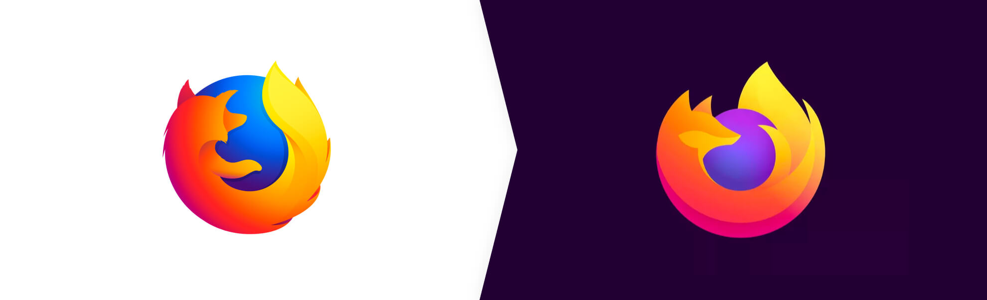 Firefox browser – stare i nowe logo