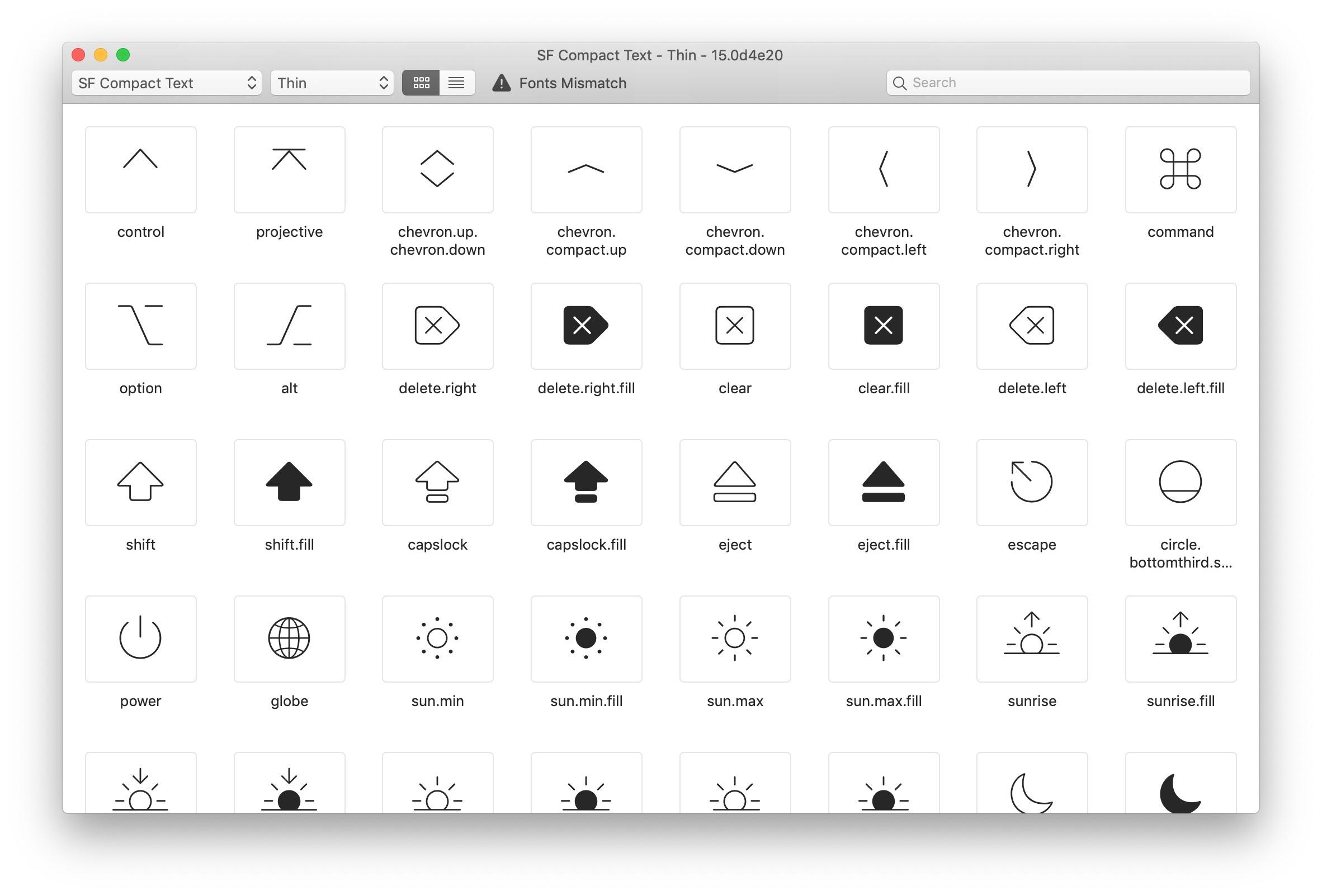 SF Symbols na Macu