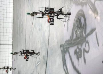 W Turynie powstał mural namalowany… dronem