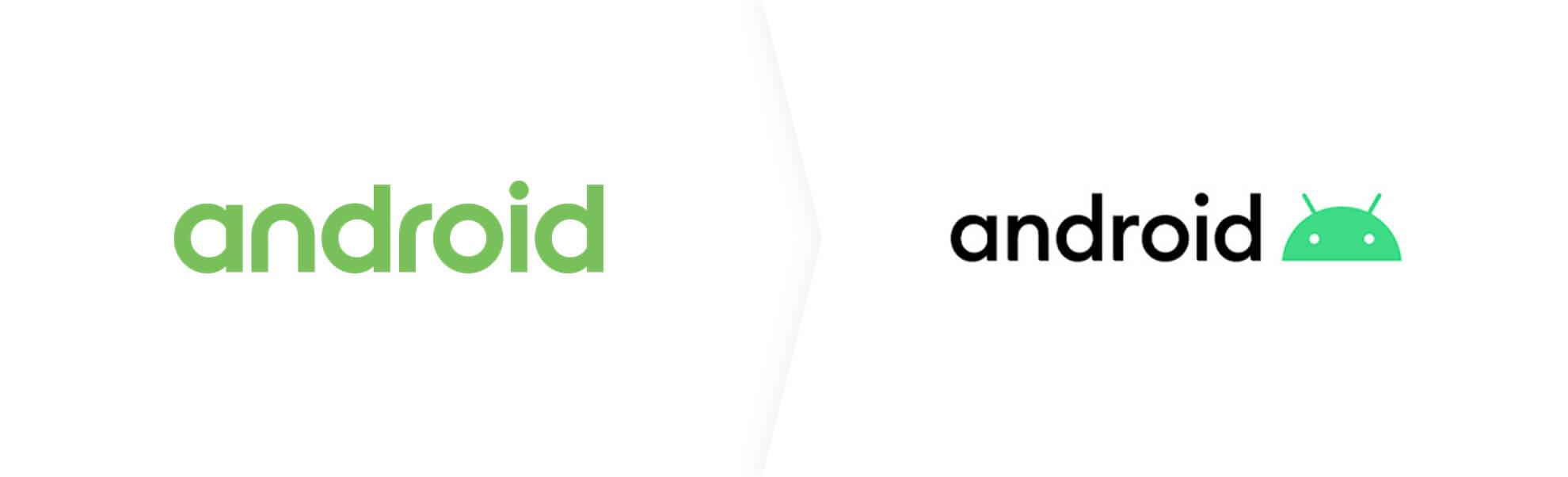 Stare i nowe logo androida