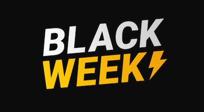 black week header