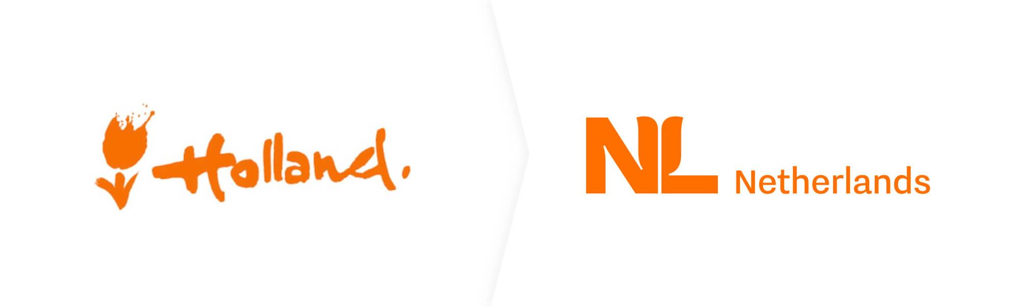 stare i nowe logo Holandii