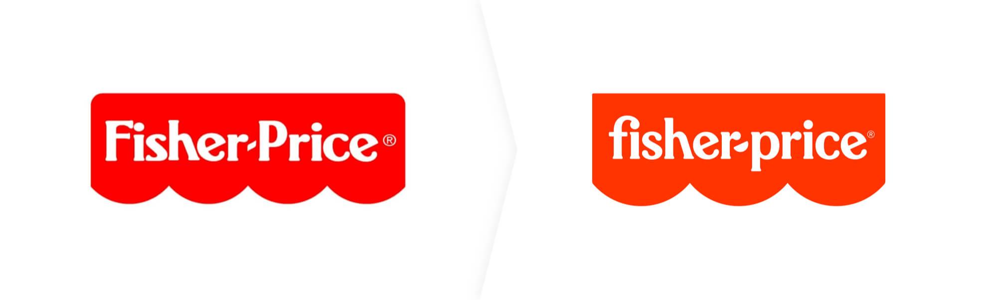 stare i nowe logo Fisher-Price
