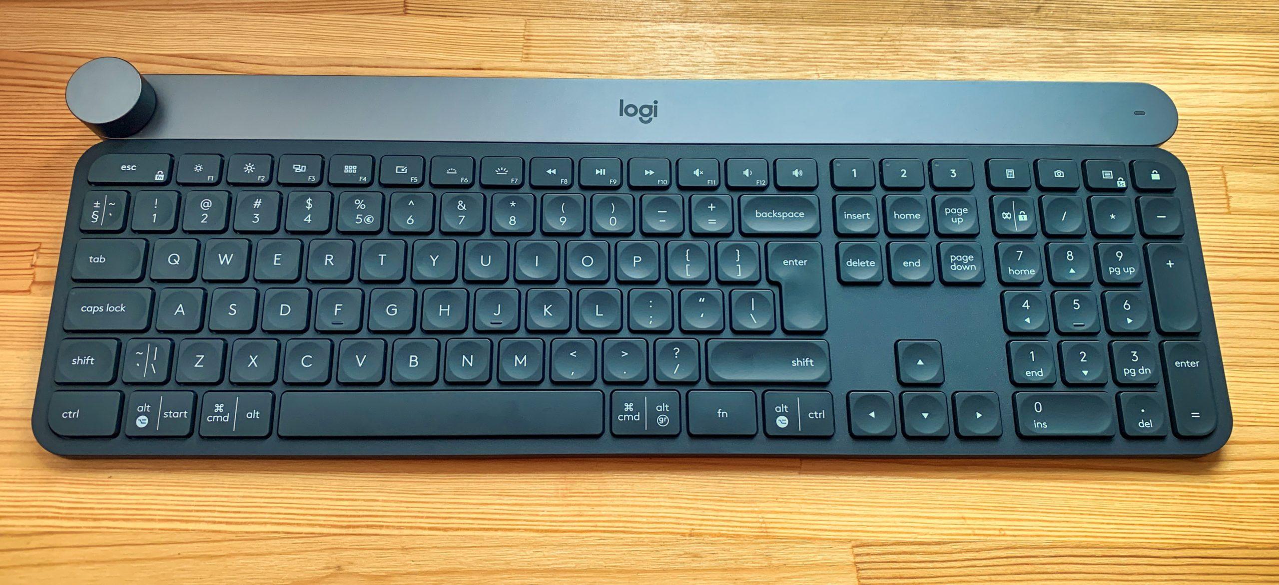 Logitech Craft układ klawiatury