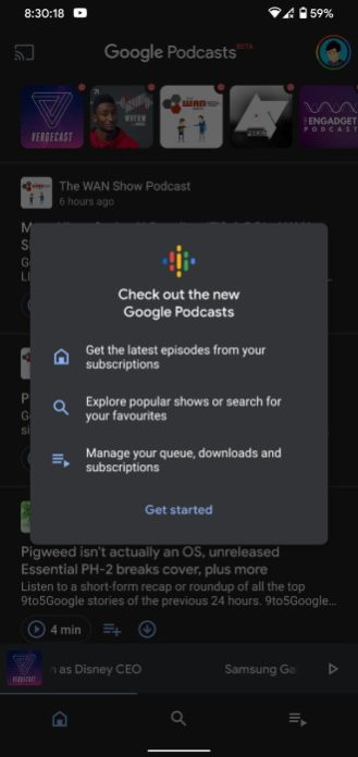 new google podcasts 1