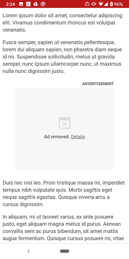blokada reklam Google